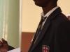 Student Takudzwanashe Chikoro addressing the audience (Photo credit: Laurin Berger)