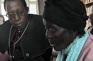 Report Cover Photo: Archbishop Pius Ncube listens to an 83 year-old woman reporting denial of access to food in Insiza District