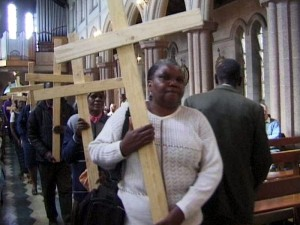 Report Cover Photo: Procession with crosses to commemorate those who have died in political violence since 2000 in Zimbabwe: 29 June 2002, St Mary's Cathedral, Bulawayo