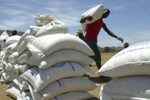 Food aid being distributed in Zimbabwe