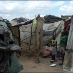 Makeshift housing in Hopley Farm, Harare